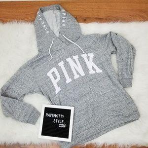 Victorias Secret PINK Grey Heathered Hoodie M